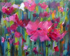 "Daily Paintworks - ""Poppy Talk"" by Pamela Gatens"