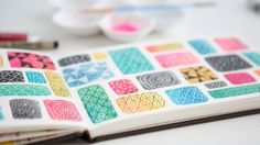 More Sketchbook Explorations: Color Blocking with Watercolor by Lisa Congdon