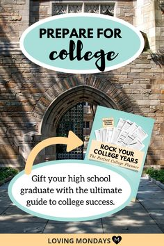 High school graduation is a major event in every teen's life. Make the transition smoother with a college planner. College Advisor, College Success, College Hacks, Education College, College Schedule, College Planner, Student Planner Printable, Academic Planner, College Student Gifts