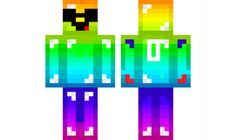 minecraft skin Cool-Rainbow-Derp Find it with our new Android Minecraft Skins App: https://play.google.com/store/apps/details?id=studio.kactus.minecraftskinpicker