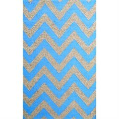 Moderno Designer Flat Weave Wool Rug in Blue/Natural - 160x230