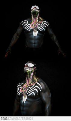 Awesome Venom Body Paint