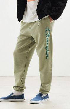 NWT Mens Champion Big C Pants Straight Leg Pants sz MT LT Grey Gray Logo