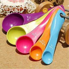 5 #colorful plastic measuring spoons set #kitchen tool #cream cooking baking,  View more on the LINK: http://www.zeppy.io/product/gb/2/351125157862/