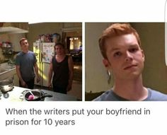 Well he's back now Shameless Mickey And Ian, Shameless Tv Show, Ian And Mickey, Shameless Memes, Find Real Love, Redhead Men, Noel Fisher, Cameron Monaghan, Best Tv