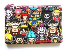 Pencil/Cosmetics Case One Piece Anime Luffy Nami by SewTime, $14.75