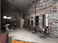 loft hair salon desing on Behance