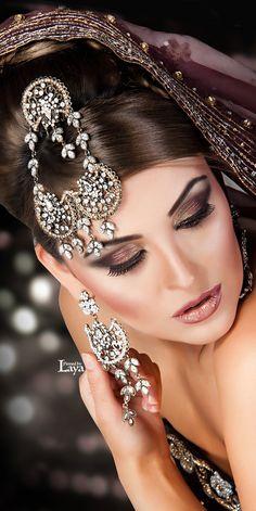 ♔LAYA♔INDIAN BRIDE♔ Indian Bridal Makeup, Asian Bridal, Bridal Hair And Makeup, Bride Makeup, Bridal Make Up Inspiration, Indie, Oriental, Bollywood, Bridal Looks