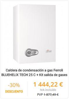 CALDERA DE CONDENSACIÓN A GAS FERROLI BLUEHELIX TECH 25 C + KIT SALIDA DE GASES