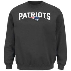 New England Patriots Majestic Critical Victory Pullover Sweatshirt - Charcoal - $49.99