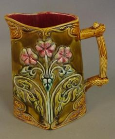 French Art Nouveau Majolica jug,… - Ceramics, Silver & Silver Plate, Oriental & Furniture - David Barsby Auctions - Antiques Reporter
