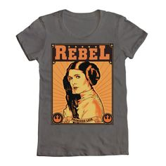 Princess Leia - Rebel tee as worn by Felicia Day in Supernatural 7.20 (The Girl with the Dungeons and Dragon Tattoo)