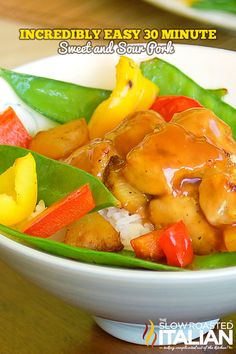Easy 30 Minute Sweet and Sour Pork From theslowroasteditalian.com #recipe