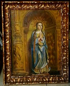 Virgen rezando #MariaLuisaIbanezArt #Art #Painting #Spain #Virgen #rezar #Catolic