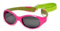 Explorer Polarized shades for Toddlers in Cherry Pink and Lime | Real Kids