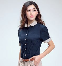 Aliexpress.com : Buy 2013 Summer Fashion New Big Size Women Blouse Short sleeve Business attire Shirt on Seree ali's store. $16.02