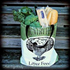 Fresh Eggs Daily®: DIY Make your own Feed Bag Market Tote Tutorial  Hmmm I wonder where I might find a feed bag.
