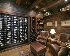 Wild Turkey Lodge Wine Cellar - eclectic - wine cellar - atlanta - Modern Rustic Homes