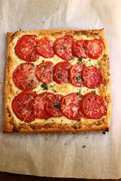 Tomato Tart | This  is a lovely dish.  It's so simple to put together and it looks very impressive when it comes out of the oven. #Homemaderecipes