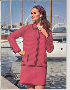 Vintage Knitting Pattern (40 Page Booklet): 1960s Patons Booklet with 13 patterns for Men & Women, 4 ply - DK (PDF Download)  Contents: Basic cardigan for classic fashion Crochet Suit Dress with lace panels Sweater to match Large size dress Mans cardigan and matching polo sweater Cardigans, long and sleaveless Fair Isle waistcoat and skirt Chanel jacket and matching sweater Chanel jacket for the fuller figure Belted cardigan suit Safari Suite Mans cable knit sweater