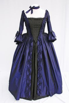 Marie Antionette Mid 1700's Georgian Style Silk Ball Gown