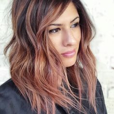 Brunette's can rock Rose Gold too @theboulevardhairco #theboulevardhairco