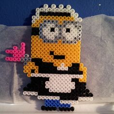Maid Minion - Despicable Me hama perler beads by alawascarlet
