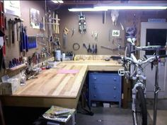 planning to build some stuff for newly acquired bike workshop/shed.