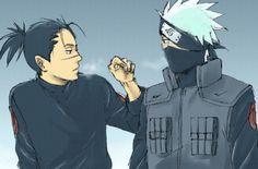 Naruto - Kakashi Hatake x Iruka Umino - KakaIru Naruto Kakashi, Anime Naruto, Naruto Shippuden, Hinata, Comic Naruto, Naruto Boys, Naruto Cute, Anime Guys, Sasunaru