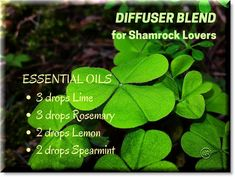 Diffuser blend of essential oils for St. Patrick's Day