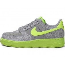 Best Sale Nike Air Force 1 gray green burst 2014 grey/green 488298-041 air force ones release dates 2013 Shoes custom nike id Online Outlet.