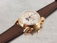 series in rose gold Patek Philippe, Rose Gold, Watches, Leather, Accessories, Clocks, Clock