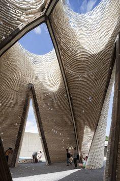 A 40-Foot Tower Made of Living Fungus Bricks