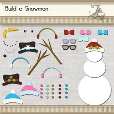 Build a Snowman or Snowlady digital png by JBrandPhotoDesigns, $5.00