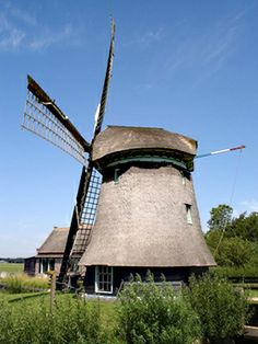 Polder mill Molen N-G of Noorder G, Sint Maartensbrug, the Netherlands.