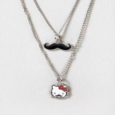 Hello Kitty Mustache Necklace