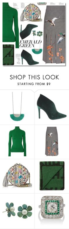 """Pops of Green"" by ilona-828 on Polyvore featuring Zad, Penny Loves Kenny, JoosTricot, Stella Jean, Jérôme Dreyfuss, StreetStyle, emeraldgreen and polyvoreeditorial"