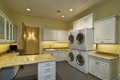A little fancy for my laundry room, but I do like the 2 sets of washers and dryers!