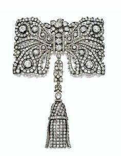 Cartier diamond brooch, late 19th century. Used as a brooch or a combination.