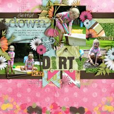 Kit: Backyard Adventure - Snips and Snails Template: Waterhole - Little Green Frog Designs Font: Pea Carlisle
