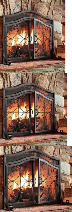 fireplace screens and doors fireplace screen doors small black firescreen guard wrought iron ornamental