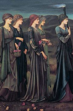 Psyche's Wedding (detail) by Sir Edward Burne-Jones, 1895. Oil on canvas | Royal Museums of Fine Arts of Belgium