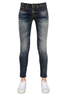R13 - ALISON CROP STRETCH COTTON DENIM JEANS - LUISAVIAROMA - LUXURY SHOPPING WORLDWIDE SHIPPING - FLORENCE