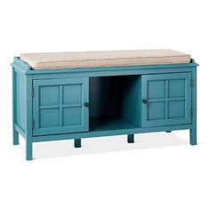 Windham Entryway Bench - Teal (Blue) - Threshold