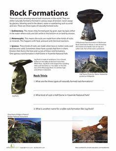 Worksheets: Rock Formations