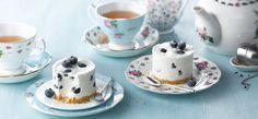 Philadelphia  - Earl Grey- og blåbær-cheesecakes