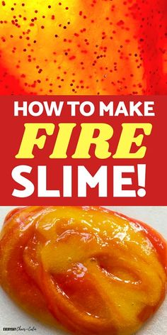 Kids love slime? Try making this super easy, 3 color, FIRE slime- it's a simple slime recipe that kids can make on their own and learn a little science along the way!