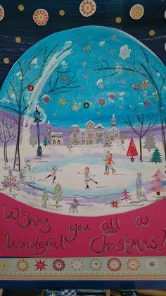 Snow globe festive greetings