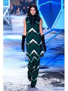 Kendall Jenner walks the runway at Fashion Week.