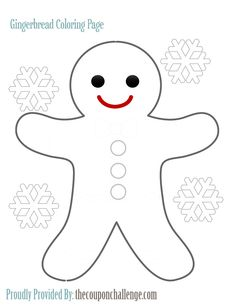 Cute gingerbread man coloring pages printable Enjoy Coloring